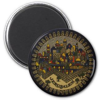 Ceramisch Jeruzalem Ronde Magneet 5,7 Cm