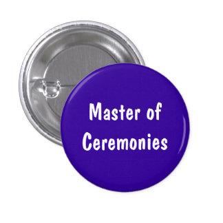 Ceremoniemeester Ronde Button 3,2 Cm