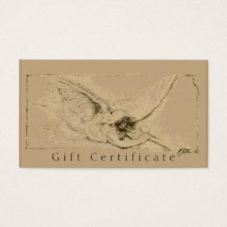 Certificaat van de Gift van de Engel van Visitekaartjes