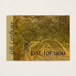 Certificaat van de Gift van de Folie van Faux het Visitekaartjes