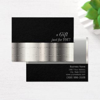 Certificaat van de Gift van Faux het Zilveren Visitekaartjes