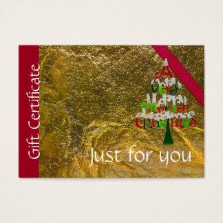 Certificaat van de Gift van Kerstmis van de Visitekaartjes