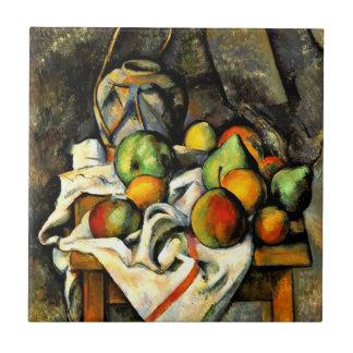 Cezanne - de Kruik en het Fruit van de Gember Keramisch Tegeltje