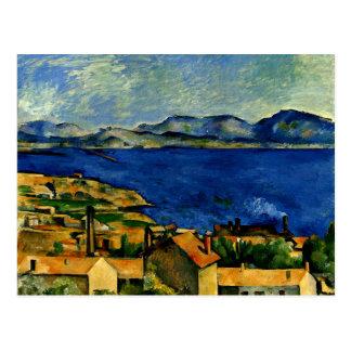 Cezanne - Golf van Marseille van L'Estaque wordt Briefkaart
