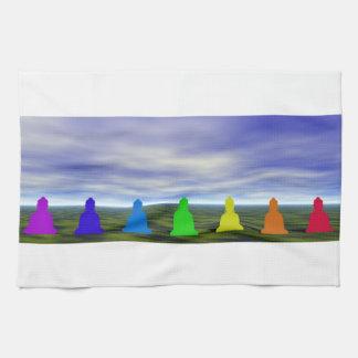 chakras en kleuren en hemel handdoek