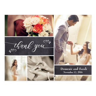 Chalked, het Rustieke Huwelijk van de Collage van Briefkaart