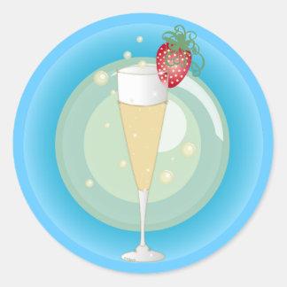 Champagne Ronde Sticker