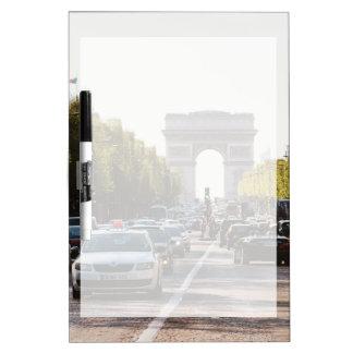 Champs Elysees en de Boog DE Triomphe Whiteboard