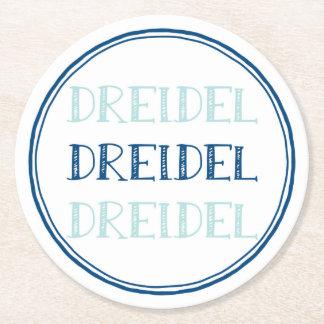 Chanoeka Moderne Dreidel Ronde Onderzetter