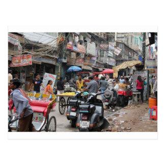 Chaos in Delhi Briefkaart
