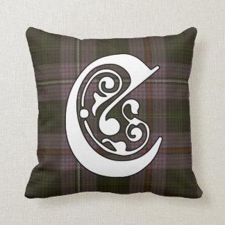 Chapman het Monogram van het Geruite Schotse Sierkussen