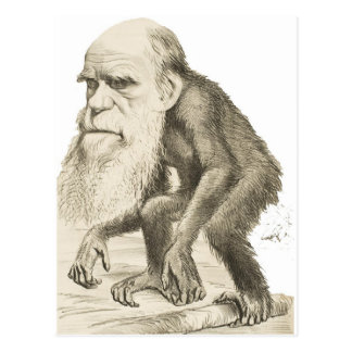 Charles Darwin het Man van de Aap Briefkaart