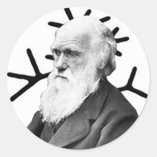 Charles Darwin Ronde Sticker