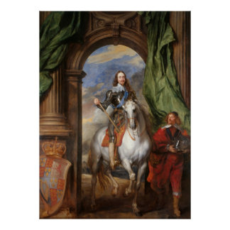 Charles I met M. DE St Antoine - Anthony van Dyck Poster