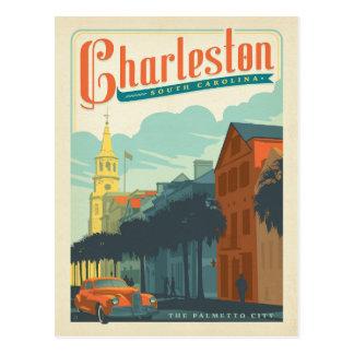 Charleston, Sc - de Stad Palmetto Briefkaart