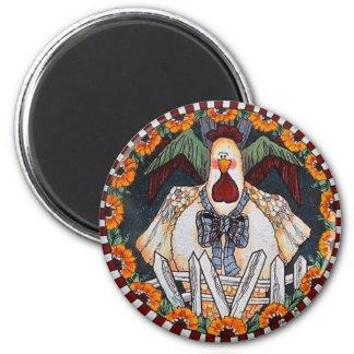 Charlie Cluckleworth Rooster Magnet Magneet