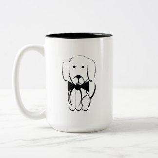 Charlie de zwart-witte tekkelMok - Tweekleurige Koffiemok
