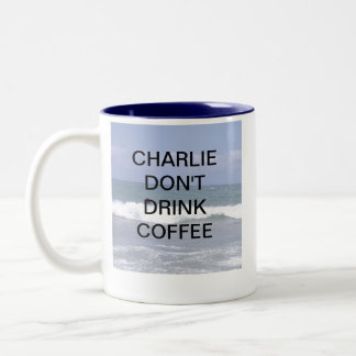 CHARLIE DRINK GEEN KOFFIE TWEEKLEURIGE KOFFIEMOK
