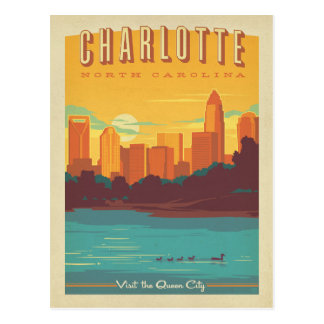 Charlotte, NC Briefkaart