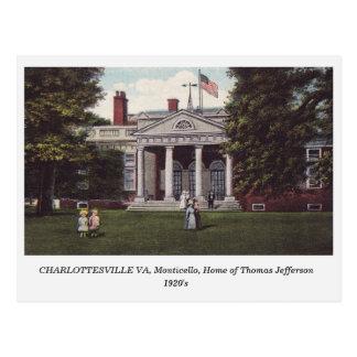 Charlottesville VA, het briefkaart van Thomas