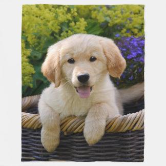 Charmant Puppy Goldie Fleece Deken