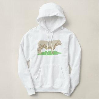 Charolais Geborduurde Sweater Hoodie
