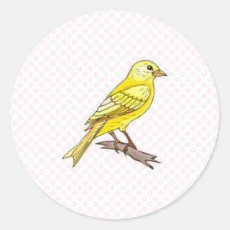 Charry Kanarie Ronde Sticker