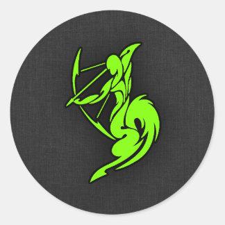 Chartreuse, de Groene Boogschutter van het Neon Ronde Sticker