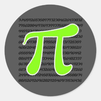 Chartreuse, het Groene Pi symbool van het Neon Ronde Sticker