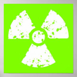 Chartreuse, het Groene Radioactieve Symbool van Poster