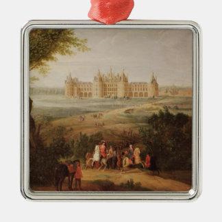 Chateau DE Chambord, 1722 Zilverkleurig Vierkant Ornament