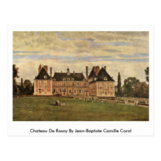 Chateau DE Rosny By Jean-Baptiste Camille Corot Briefkaart
