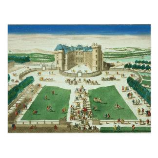 Chateau Rambouillet, dat door Antoine Aveli wordt Briefkaart