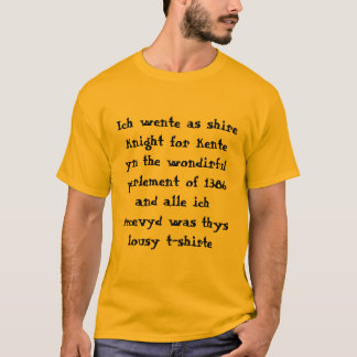 Chaucer Blog: De T-shirt van het Parlement