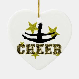 Cheerleader Keramisch Hart Ornament