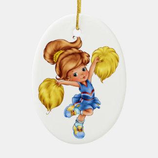 Cheerleader Keramisch Ovaal Ornament