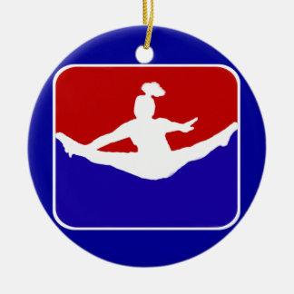 Cheerleader Rond Keramisch Ornament