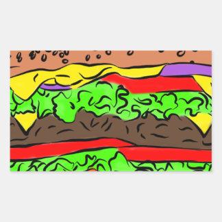 Cheeseburger Rechthoekige Sticker