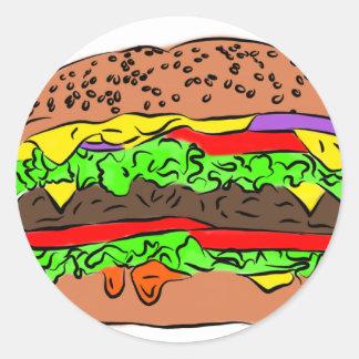 Cheeseburger Ronde Sticker