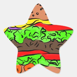 Cheeseburger Ster Sticker