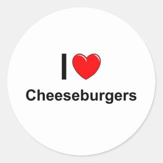 Cheeseburgers Ronde Sticker
