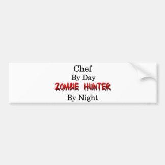 Chef-kok/de Jager van de Zombie Bumpersticker