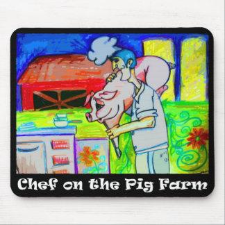 Chef-kok op de Varkensfokkerij Mousepad Muismat