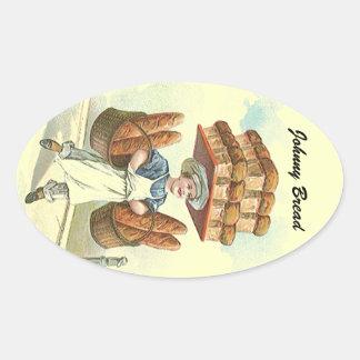 Chef-kok van Baker van het Brood van de Pret van Ovale Sticker
