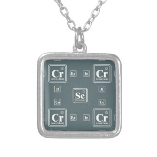 Chemie van de zaken zilver vergulden ketting