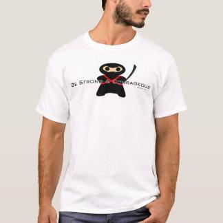 Chemo Ninja. Sterk en Moedig ben T Shirt