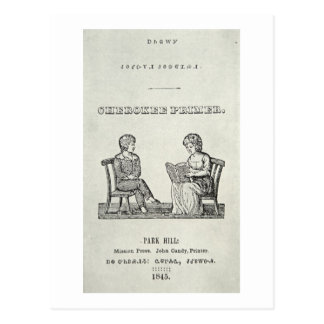 Cherokee Inleiding, 1845 (gravure) Briefkaart