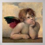Cherubijn van Sistine Madonna door Raphael Poster