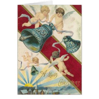 cherubijnen en klokkenKerstmiskaart Kaart