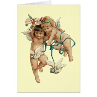 Cherubijnen met Witte Duiven Briefkaarten 0